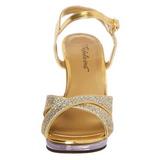 Guld Glitter 12 cm FLAIR-419G High Heels Sko til Mænd
