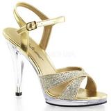 Guld Glitter 12 cm FLAIR-419G højhælet sko til kvinder