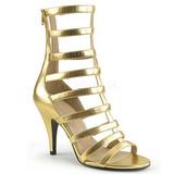 Guld Kunstlæder 10 cm DREAM-438 store størrelser ankelstøvler dame