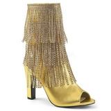 Guld Kunstlæder 10 cm QUEEN-100 store størrelser ankelstøvler dame