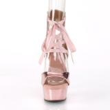 Guld Kunstlæder 15 cm DELIGHT-600-14 pleaser sandaler med plateau