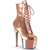 Guld Laklæder 18 cm ADORE-1020 plateau ankelstøvler damer