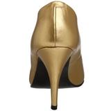 Guld Mat 10 cm VANITY-420 spidse pumps med høje hæle