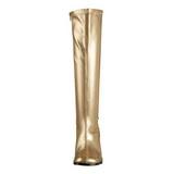 Guld Mat 8,5 cm GOGO-300 Høje Damestøvler til Mænd