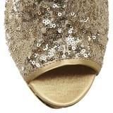 Guld Pailletter 15,5 cm BLONDIE-R-1008 Plateau Støvletter