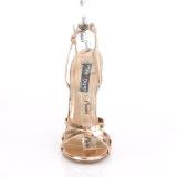 Guld Rosa 15 cm Devious DOMINA-108 højhælede sandaler til kvinder