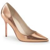 Guld Rose 10 cm CLASSIQUE-20 spidse pumps med stiletter hæle