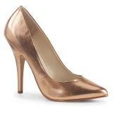 Guld Rose 13 cm SEDUCE-420 spidse pumps med høje hæle