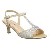 Guld Strass 6,5 cm AUDREY-05 højhælede sandaler til kvinder