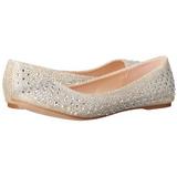 Guld TREAT-06 krystal sten ballerina sko med flade hæle
