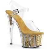 Guld glimmer 18 cm Pleaser ADORE-708G poledance sko