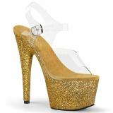 Guld glimmer 18 cm Pleaser ADORE-708HMG poledance sko
