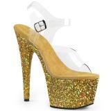 Guld glimmer 18 cm Pleaser ADORE-708LG poledance sko
