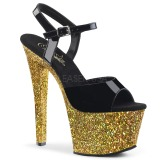 Guld glimmer 18 cm Pleaser SKY-309LG poledance sko