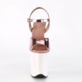 Guld glimmer 20 cm Pleaser FLAMINGO-809LG poledance sko