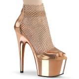 Guld høje hæle 18 cm ADORE-765RM glitter plateau høje hæle
