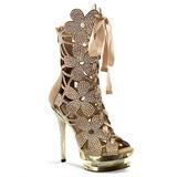 Guld krystal sten 15 cm FANTASIA-1020 ankelstøvler damer plateausål