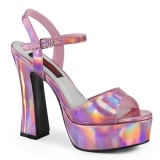Hologram 13 cm DOLLY-09 platform demonia chunky high heels shoes