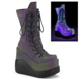 Hologram 13 cm VOID-118 demonia støvler med kilehæle