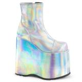 Hologram 18 cm Demonia SLAY-204 gothic ankelstøvler med plateausål