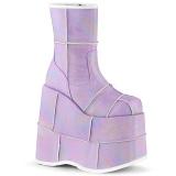 Hologram 18 cm STACK-201HC Platform Mens Gothic Ankle Boots