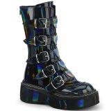 Hologram 5 cm EMILY-330 plateau damestøvler med spænder