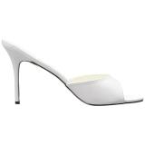 Hvid 10 cm CLASSIQUE-01 dame mules med høje hæl