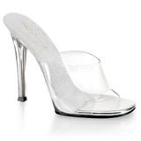 Hvid 11,5 cm FABULICIOUS GALA-01 dame mules med høje hæl