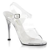 Hvid 11,5 cm FABULICIOUS GALA-08 Fest sandaletter med høje hæl