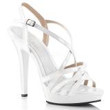 Hvid 13 cm Fabulicious LIP-113 højhælede sandaler til kvinder