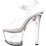 Hvid 18 cm TIPJAR-708-5 stripper sandaler poledance sko