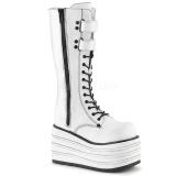 Hvid Canvas 10 cm MORI-310 demonia støvler plateau