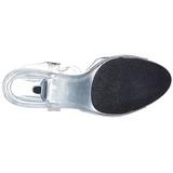 Hvid Gennemsigtig 8 cm Pleaser BELLE-308 Høje Hæle