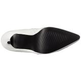 Hvid Kunstlæder 10 cm CLASSIQUE-3011 Højhælede Overknee Støvler