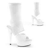 Hvid Kunstlæder 15 cm DELIGHT-1022 ankelstøvler damer med plateausål