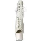 Hvid Kunstlæder 18 cm ADORE-1021 ankelstøvler damer med plateausål