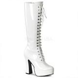 Hvid Lak 13 cm ELECTRA-2020 Plateaustøvler til kvinder