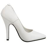 Hvid Lakeret 10 cm VANITY-420 spidse pumps med høje hæle