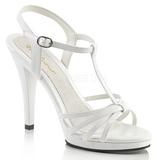 Hvid Lakeret 12 cm FLAIR-420 High Heels Sko til Mænd