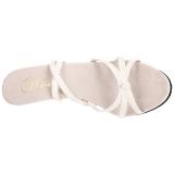 Hvid Lakeret 12 cm FLAIR-436 High Heels Sko til Mænd