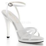 Hvid Lakeret 12 cm FLAIR-436 højhælet sko til kvinder