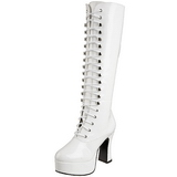 Hvid Lakeret 13 cm ELECTRA-2020 Høje Damestøvler til Mænd