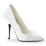Hvid Lakeret 13 cm SEDUCE-420 spidse pumps med høje hæle
