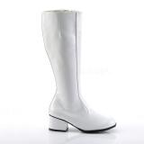 Hvid Lakeret 5 cm GOGO Høje Damestøvler til Mænd