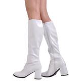 Hvid Lakeret 8,5 cm GOGO-300 Høje Damestøvler til Mænd
