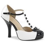 Hvid Laklæder 11,5 cm PINUP-02 store størrelser pumps sko
