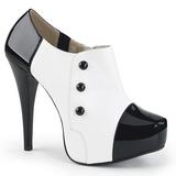 Hvid Laklæder 13,5 cm CHLOE-11 store størrelser pumps sko