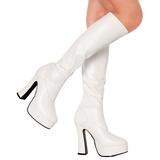 Hvid Mat 13 cm Pleaser ELECTRA-2000Z Plateaustøvler til kvinder