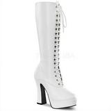 Hvid Mat 13 cm Pleaser ELECTRA-2020 Plateaustøvler til kvinder