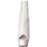Hvid Mat 15 cm DELIGHT-1018 Plateau Ankelstøvler
